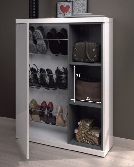 Large Shoe Cabinet | Alfy White Large 30-40 Pairs Shoe Cupboard Cabinet